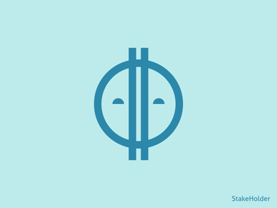 Stake Holder blockchain logo bitcoin cryptocurrency crypto
