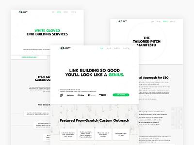 Tailored Pitch web design seo minimalistic clean tailored webdesign web