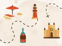 Mallorca treasure map