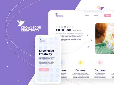 Knowledge Creativity webdesigner dashboard education knowledge webdesign web ui colorful branding