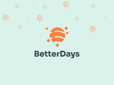 BetterDays medical logo medicine biotechnology medical app medical baloon colorful logo design logo