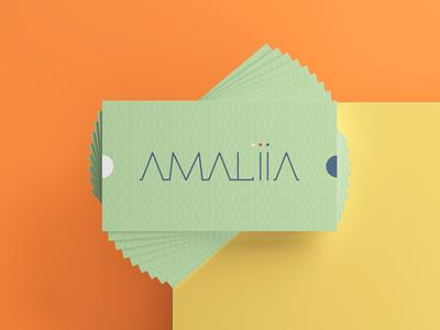 AMALIA lifestyle presentation impactful branding colorful health stationery bc businesscard business card