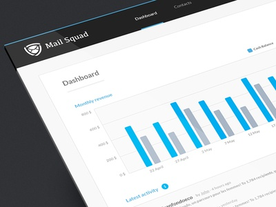Mail Squad mail white label email dashboard board stats web app cms interface