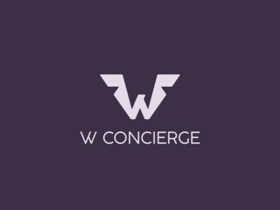 W Concierge branding agency brand branding emblem logos corporateidentity logo fly wings
