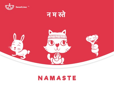 SweetLime kids illustration illustraion branding product kids yoga