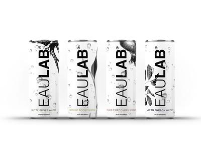 EauLab beverage branding innovative packaging design pure organic water can packagedesign packaging
