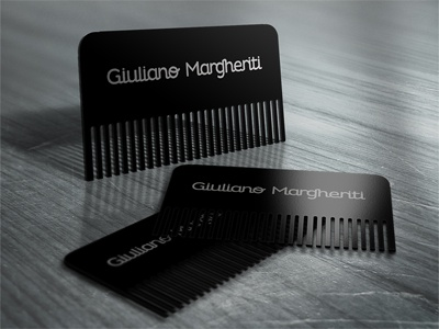 Comb Card comb italian barber business card giuliano