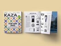 Editorial design for KAZA magazine