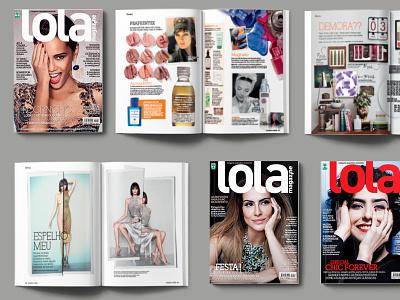Editorial design - Lola Magazine fashion graphic design editorial magazine