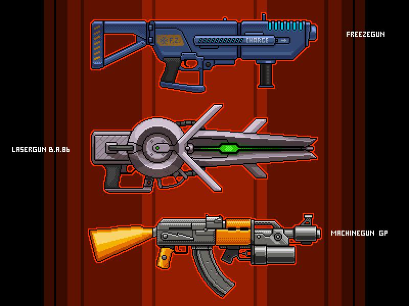 3 Guns by Artsiom Grlmc Hlushchenia on Dribbble