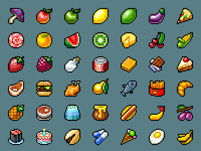 Food for Foodie foodie yama ios game iphone ipad ipod arcade twitch pixel art pixelart