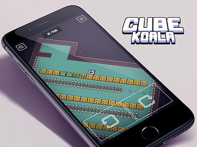 Cube Koala is alive! game ios arcade iphone ipad ipod cube koala puzzle hardcore pixel