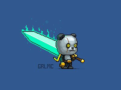 Panda Warrior pixel pixel art pixelart panda