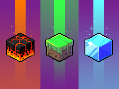 Set of cubes tiles cubes pixelart pixel art pixel