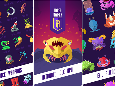 Hyper Swiper f2p casual idle ipod ipad iphone rpg ios game