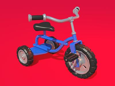 Bike bike game illustration 3d