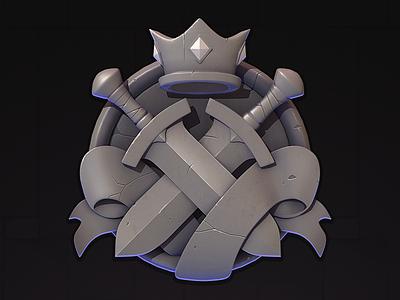 Emblem rpg illustration fantasy emblem ios game icon ui
