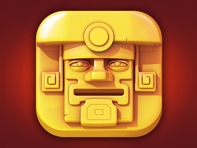 Tomb of the Mask Icon for test 2d 3d illustration emblem ios game ui icon