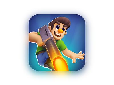 Ride the Gun (icon) illustation game app icon game