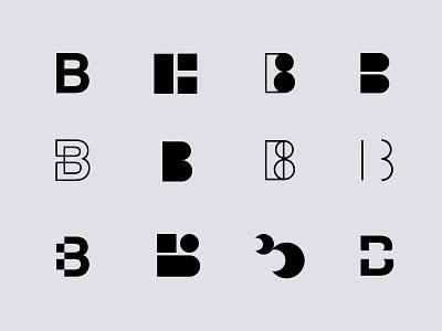 Letter B lettermark letters lettering b letter design branding logo vector illustration pulcedesign
