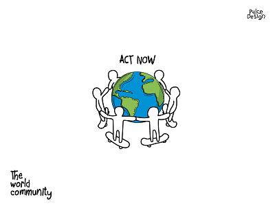 Act Now world skateboard action coroniavirus quarantine adventure color design brand vector illustration pulcedesign