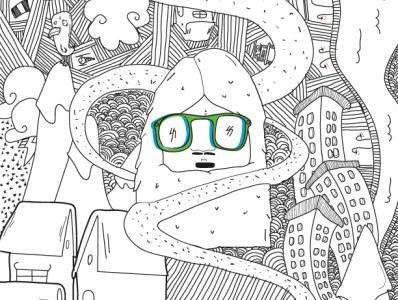 The Yeti snowflake animal brand adventure color design illustration vector illustrator goggle snow yeti