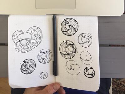 Sketch waves sketch waves logo