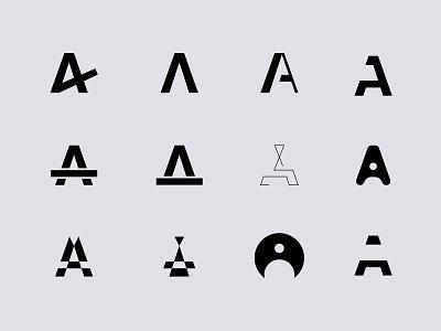 Letter A abstract letters lettering art app lettermark letter design branding brand vector illustration pulcedesign