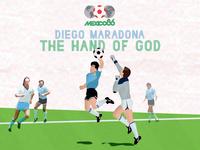Diego Maradona & The hand of god
