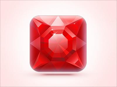 iOS Icon Ruby On Ice difiz ios icon ruby ice red blue snow snowflakes hockey ruby on ice ios icon