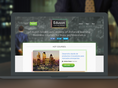 Eduson.tv - design mobile business training leadership startup school moscow russia difiz team business training distance learning