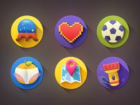 "Kinda ""Flat"" Icons - 9 new icons!"