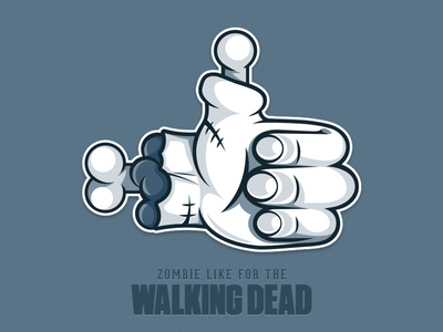 Zombie Like for The WALKING DEAD - sticker sticker telegram zombie like the walking dead bones difiz difiz.com icon