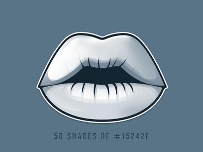 50 Shades Of #15242F - sticker icon difiz.com difiz bones 50 shades of grey lips kiss sexy
