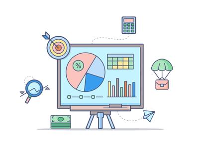 Strategy Icon - dropbox style chart piechart pie calculate money graphics icon strategy style dropbox