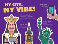 My city, my vibe - stickers for Viber.