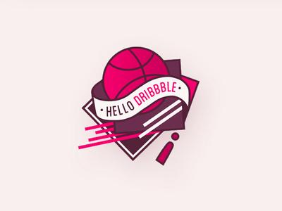 Hello Dribbble Badge hello dribbble badge