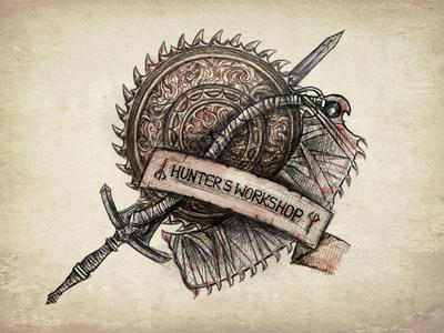 Saws and Sword apple pencil illustration sword gaming bloodborne