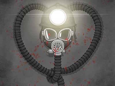 My Bloody Valentine (1981) houston illustration movie art killer spooky art horror movies 80s horror 1980s horror horror art horror heart bloody blood gas mask miner mining valentines valentine bloody valentine my bloody valentine