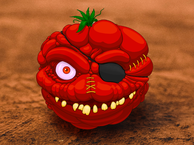 Attack of the Killer Tomatoes! (1978) 🍅🍅🍅 houston procreate art sketch drawing digital illustration lowbrow comedy mockumentary horror 1980s 1970s tomato killer attack of the killer tomatoes