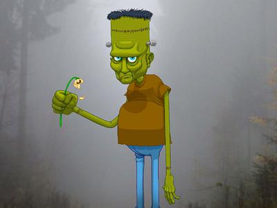 Frankenstein's Monster procreate art drawing illustration digital art green lowbrow classic creature mary shelley monster frankenstein frankensteins monster