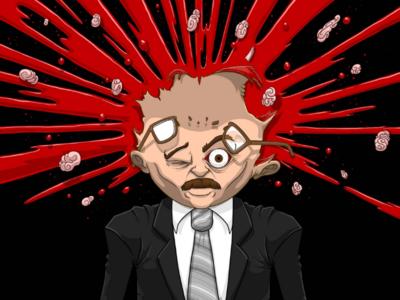 Scanners (1981) | Burst houston houston artist art drawing illustration digital art spooky creepy lowbrow horror 80s horror telekinesis brains blood exploding head quarantober burst cronenberg david cronenberg scanners
