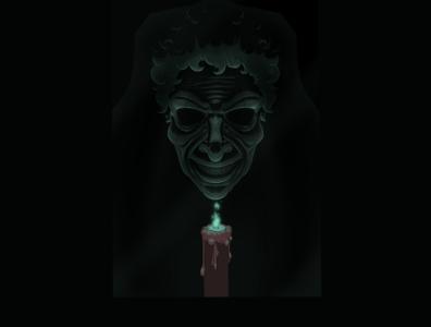The Bride in Black - Insidious (2010) procreate houston houston artist art drawing illustration digital art spooky creepy lowbrow horror movies horror james wan window quarantober parker crane old woman bride in black insidious
