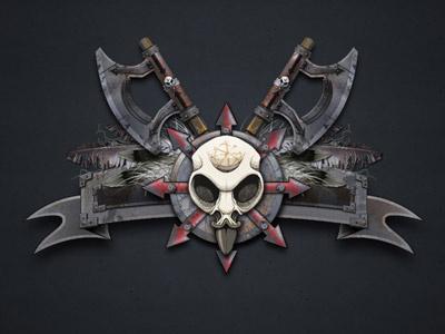 Industrial Bird Skull illustration graphic design skull industrial horror