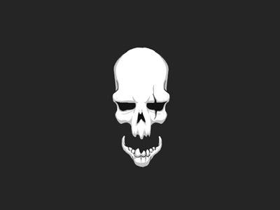 Cracking Skulls illustration graphic evil skull horror