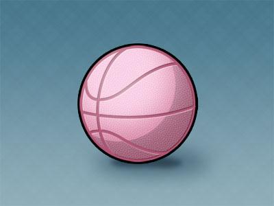 Dribble Ball illustration icon basketball dribbble pink