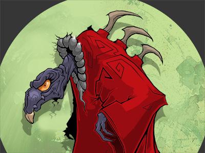 Skeksi illustration character skeksis dark crystal bird