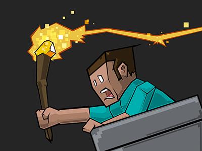 Minecraft [threadless] illustration minecraft t-shirt steve