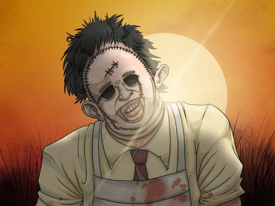 Horror Illustration | Texas Chainsaw Massacre houston artist houston art drawing illustration digital art slasher art  movie art slasher texas low brow art horror art horror 70s horror tobe hooper gunnar hansen leatherface 1974 texas chainsaw massacre