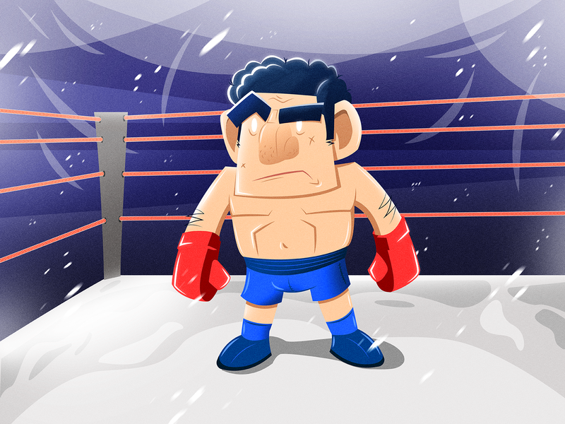 Fighter design art photoshop illustrator ring character boxing box